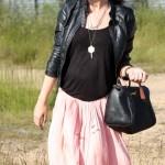 Texturas y falda larga