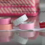 Tiritas hechas con Masking Tape