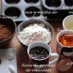 Magdalenas de calabaza y chocolate