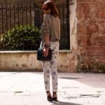 Pantalones capri y maxicollar…