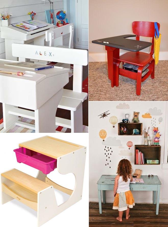 Mesas de estudio para ni os comparte mi moda - Como hacer una mesa escritorio ...