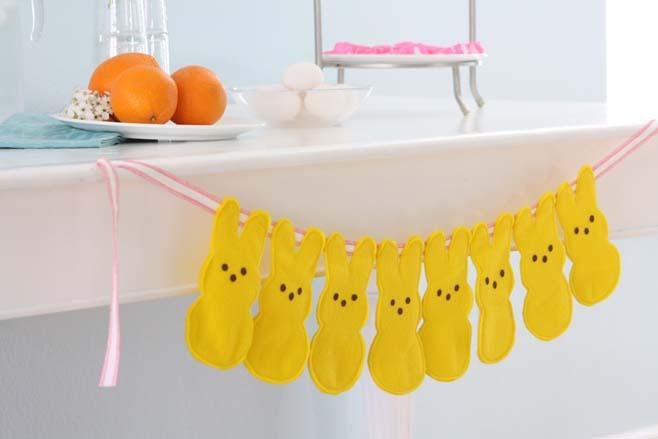yellow-felt-bunny-bunting-peeps-bunny-easter-craft-ideas