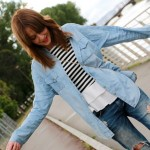 Denim, rayas y trench