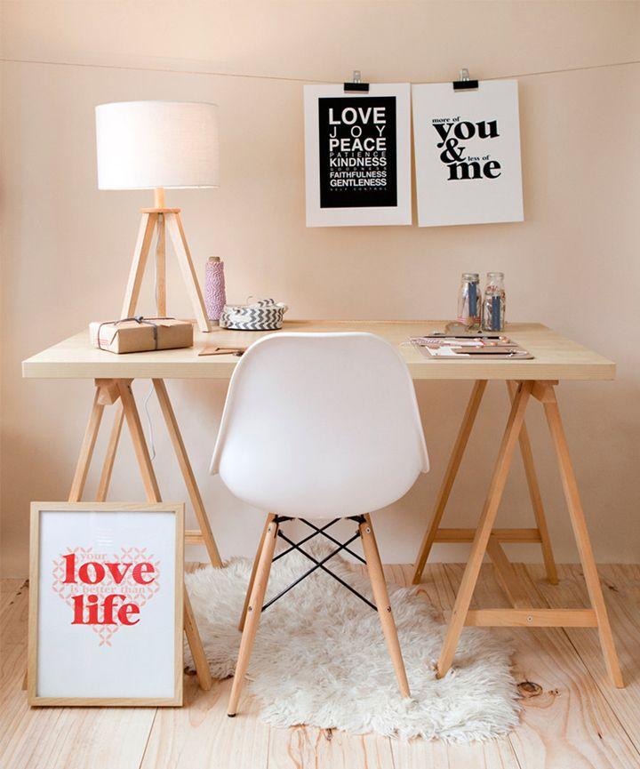 espacio de trabajo con silla dsw decoratualma dta