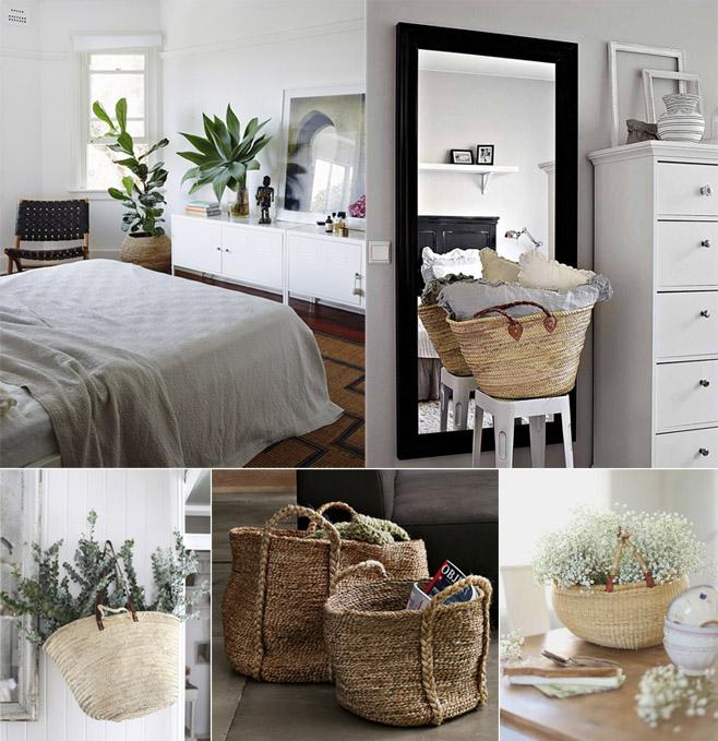 Decorar con cestas comparte mi moda Cestas decoracion