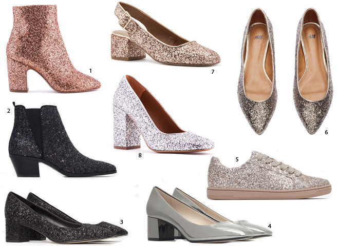 Shopping zapatos brillantes
