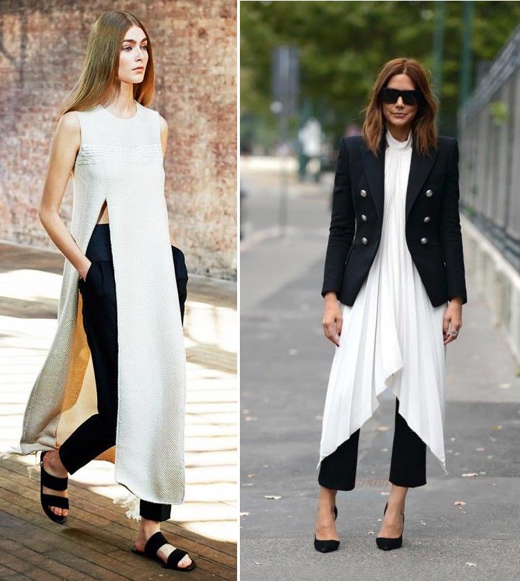 1b75b48792c Vestidos sobre pantalones la tendencia del 2016