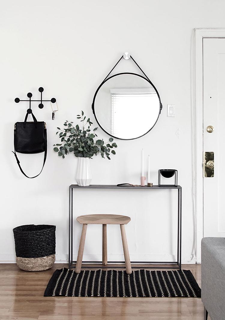Consola forja negro decoración